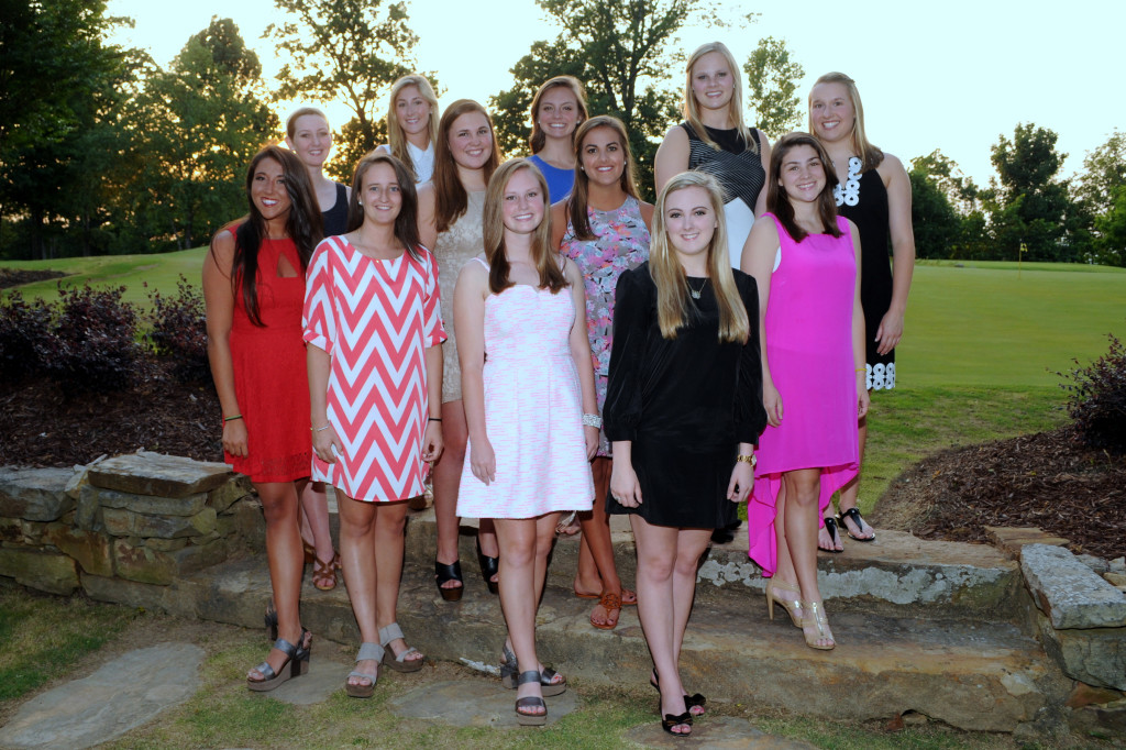 First Row:  Kalli Scherlis, Sanders Clayton, Anna Lee Lawson, Caroline McCrary   Second Row:  Beth Byers, Spencer Anglin, Alexandra Ferguson, Madison Sheible   Third Row:  Alli Murphree, Lauren Hammond, Lillie Brown, Elizabeth Earles   Not pictured:  Emily Cragon, Alice Stallworth