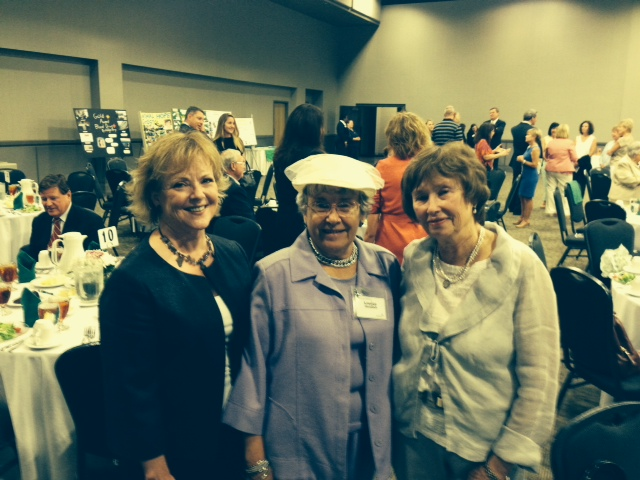 Guild members Naomi Dubois, Louise Heidish, and Mary Lee Prout at the Girl Scout Awards.