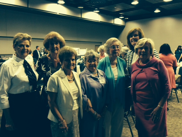 Several Guild members turned out to support our nominees.  Back Row:  Margaret Vann, Middie Thompson, President Beth Wise.  Front Row:  Joyce Griffin,  Award Winner Louise Heidish, Suzanne O'Connor.