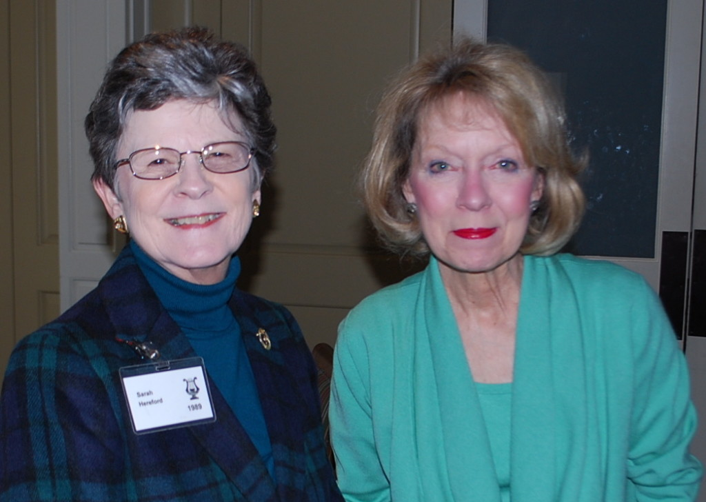 Members Sarah Hereford and Judy Link