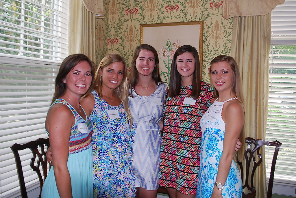 Mallory Castellow, Anna Catherine Brooks, Mary Witty Crump, Katie Vest, Mary Margaret Ragland