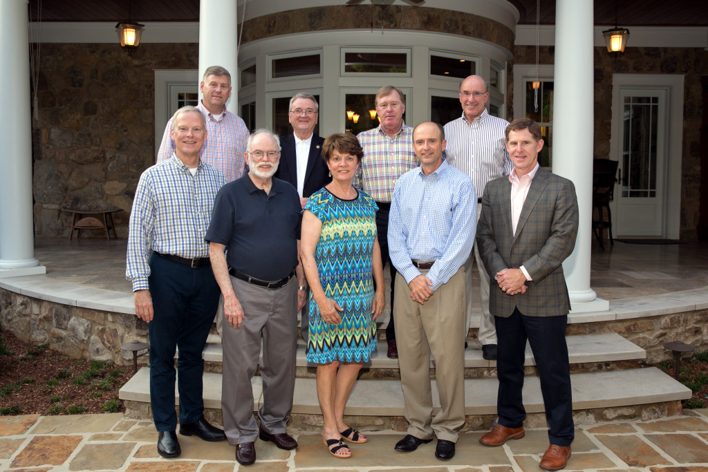 Front row (left to right): Patrick Robbins, Ed Rush, Nancy Colin (2015 Ball Chair), George Smith, Steve Thornton Back row (left to right):  John Johnson, Richard Van Valkenburgh, Ronald Reed, Skipper Colin Not pictured:  Randy Roper, Andrew Jeffrey Albert