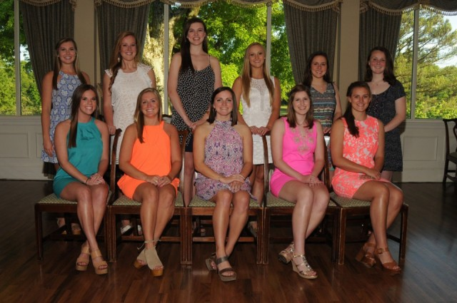 Seated L to RTindall Morring, Emily Evans, Megan Smith, Julianna Kendall, Abby Knowling Standing L to R Lauren Neighbors, Hattie Crosby, Maddie Kofskey, Hannah Martz, Kate Noble Hall, Caroline Wilson